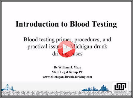 Screen shot Introduction to Blood Testing in Drunk Driving Cases